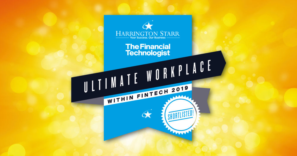 FeedStock shortlisted for Harrington Starr's Ultimate Fintech Workplace Awards 2019